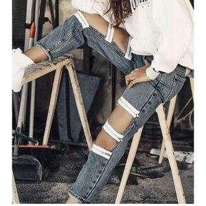 ⭐️NWT⭐️ CARMAR Exposed zippier boyfriend jeans